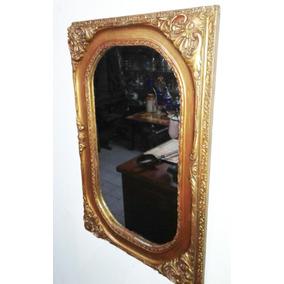 Espejo Marco Frances Dorado ( No Bicelado) 60 Alto X 40 Cm.