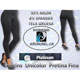 Leggins/ Licra/ Pretina Ancha Y Fina Unicolor P Dama