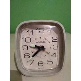 Reloj Despertador De Mesa Antiguo Westclox Cuerda Coleccion