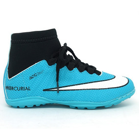 fa7ce69cd3 Chuteira Nike Cano Alto Infantil Original - Chuteiras Nike Azul ...