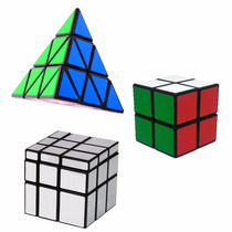 Kit Cubo Mágico 2x2x2, Mirror Blocks, Pyraminx Shengshou