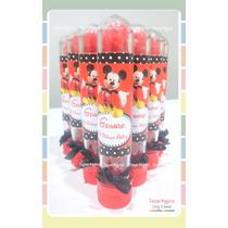 Souvenirs Tubos Golosineros Mickey X 10 Unidades