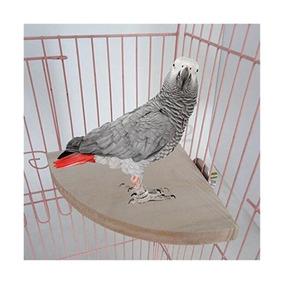 Yosoo 17cm17cm Madera Loro De La Jaula De Pájaros Moneda Red