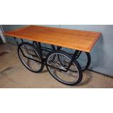 Mesa Com Rodas De Bicicleta Carroça