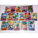 Lote De 16 Cartas Dragon Ball Heroes + Protectores