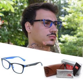 8592065a40b3f Armação Para Óculos De Grau Masculino 3 Graus Barato - Óculos Azul ...