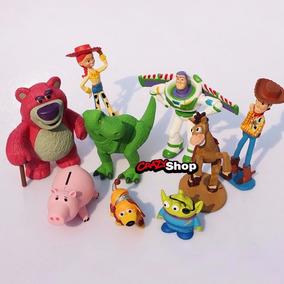 Toy Story Kit 9 Bonecos Miniaturas Bonecos Festa Presente