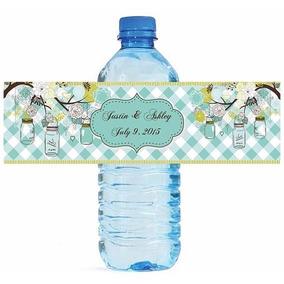 50 Etiquetas Personalizadas Botella De Agua Bolos Recuerdos