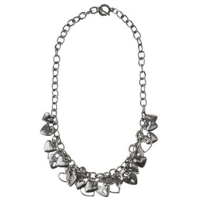 Collar Tonnos Corto De Metal Con Corazones-envío Gratis