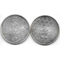 Moneda Portugal Plata 1000 Escudos Año 1996 Patrona Portugal