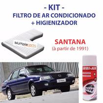 Kit Santana Filtro De Ar Condicionado + Spray Higienizador