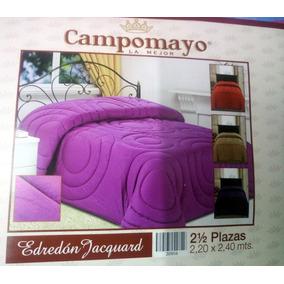 Frazadas Edredón Microfibra Jackard Campomayo 2 1/2 Plaza