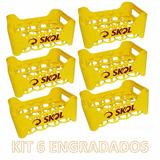 Kit Com 6 Engradados Cerveja Skol Para 18 Garrafas 300 Ml
