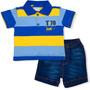 Conjunto Polo Bermuda Jeans Bandeira By Tilly Baby