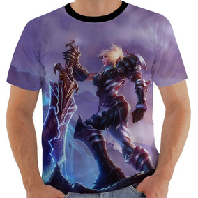 Camiseta 7685 Ou Baby Look League Of Legends Riven Campeona