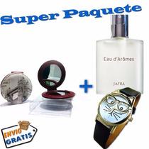 Super Paquete Perfume Jafra Reloj Y Espejo Vintage Para Dama