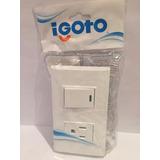 Interruptor + Tomacorriente Igoto Color Blanco 15a 125v