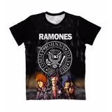 Camiseta Baby Look Feminina Ramones