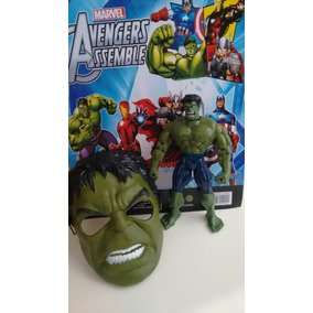 Bonecos Hulk/homem Aranha Ou Tartarugas Ninja + Mascara