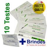 Kit 10 Testes Ovulação Fertilidade One Step® + 2 Brindes