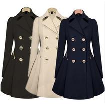 Sobretudo Feminino Trench Coat Rodado Importado Frete Grátis