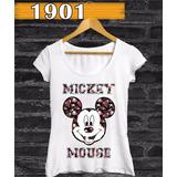 Roupa Feminina Mickey Minnie Mouse Manga Curta Frete Grátis