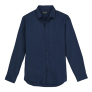 Camisa Básica Cuello Button Down De Hombre C&a 1055311