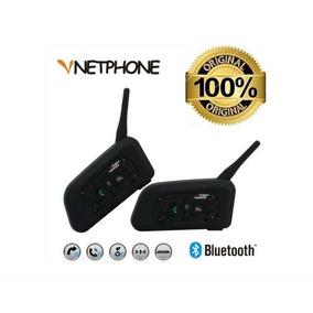 Intercomunicador Bluetooth Moto V6 1200 Capacete - 2 Pçs