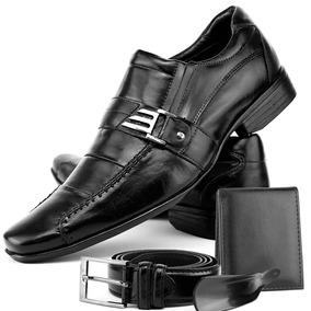 Sapato Bota Social Masculino Barato Couro + Carteira Oferta