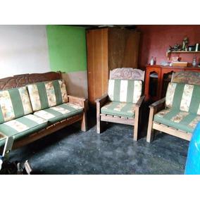 Juego De Muebles De Madera Rustica De 5 Puestos