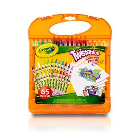Kit Lápis De Cor Lapiseiras Twistables Crayola + Brinde