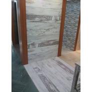 Porcelanato Rectificado Simil Madera Brushed White 20x120 1°