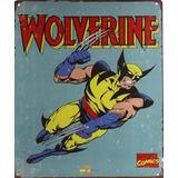 Poster Metalico Y Figura Mini Blocks Wolverine Marvel