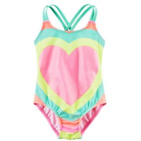 Vestido De Baño Niña Carter´s Talla 4 Colores Corazón Neon