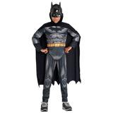 Fantasia Batman Infantil Premium C/ Músculo E Máscara Novo