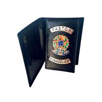 Porta Documentos Em Couro Para Pastor Evangélico - Simples