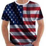 Camiseta Bandeira Usa 1 Estados Unidos Eua Flag Color