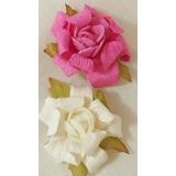 Flores De Papel Y Goma Eva (tipo Rosas)