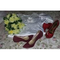 Kit Vestido De Noiva Modelo Sereia,e Acessórios