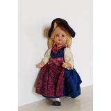 Boneca Antiga Italiana Traje Tipico Mini Doll Anos 60