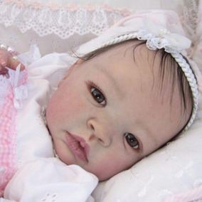 Bebê Reborn Bruna Barata Detalhes Reais Com Placa De Barriga