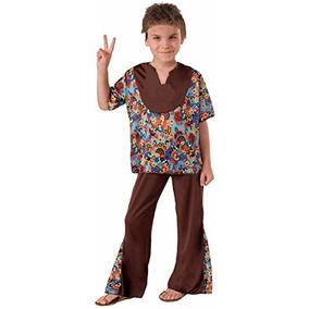 Disfraz De Niño Niño Hippie De Los 60 Años Del Foro, Grande