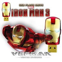 Pen Drive 16 Gb - Iron Man - Homem De Ferro