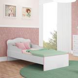 Mini Cama C/ Laterais De Proteção Doce Sonho Branco/rosa