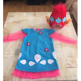 Disfraz Troll Poppy Niña Envío Gratis