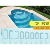 Piscina De Fibra De Vidrio Delfos 5,75x2,70x1,40 En Mendoza