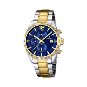 Reloj Hombre Festina Time Recording F16761-2 Acero Y Dorado