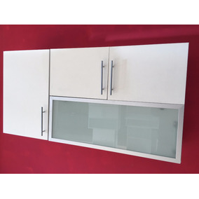 Alacena 120-60-30 Mueble Revatible Despensero Vidrio Fabrica