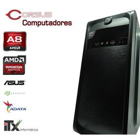 Computador Corsus Gamer Com Apu A8-7600 8gb 500gb Radeon R7