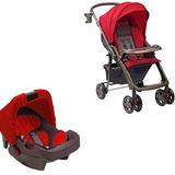 Carrinho De Bebê Hercules Rubi Premium Com Bebê Conforto - V